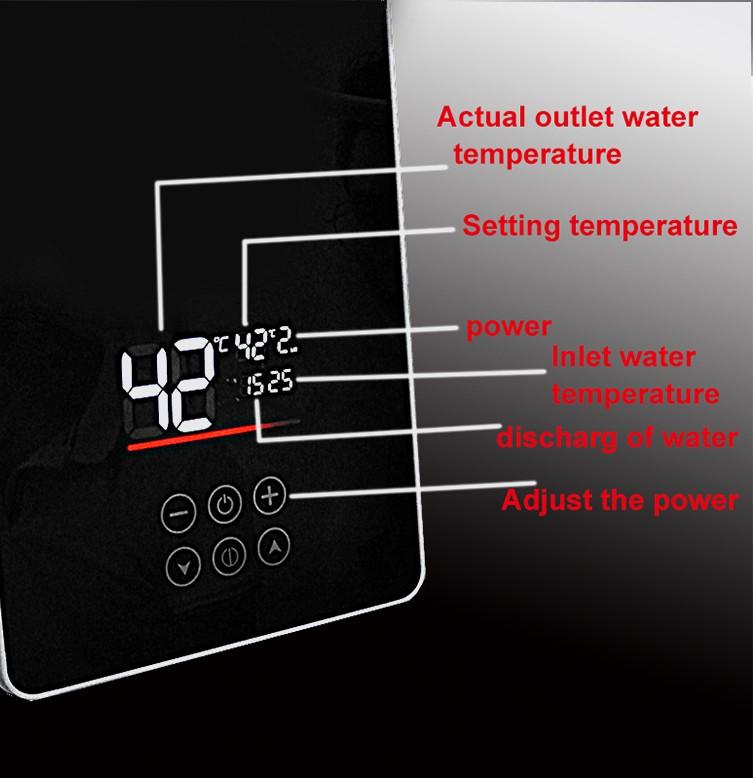Мини-ручка для ванной комнаты Zhen Ang кВт 5,5 кВт, мгновенный безрезервуарный электрический водонагреватель с насосом бустера