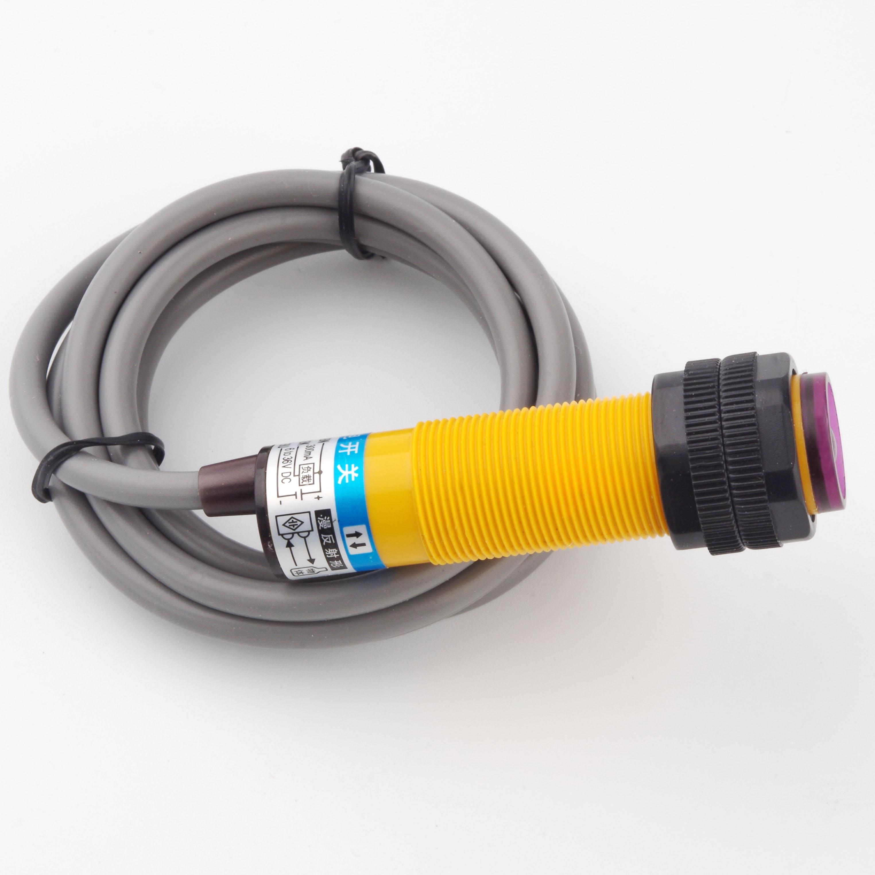 Фотодатчик 18 мм E3F цилиндрический фотоэлектрический датчик E3F-DS10B4 цилиндрический резьбовой оптический датчик приближения