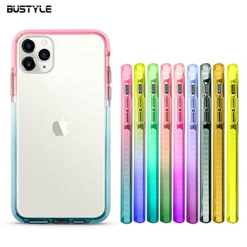 Custom Color TPE Bumper PC Hard Back Shockproof phone case design for iphone 11 custom color mobile phone case for iphone x