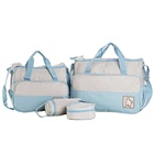 5 pcs/set Baby Care Diaper Mummy Stroller Handbag Set Maternity Nursery Organizer Hobos Nappy Changing Mat Bottle Holder
