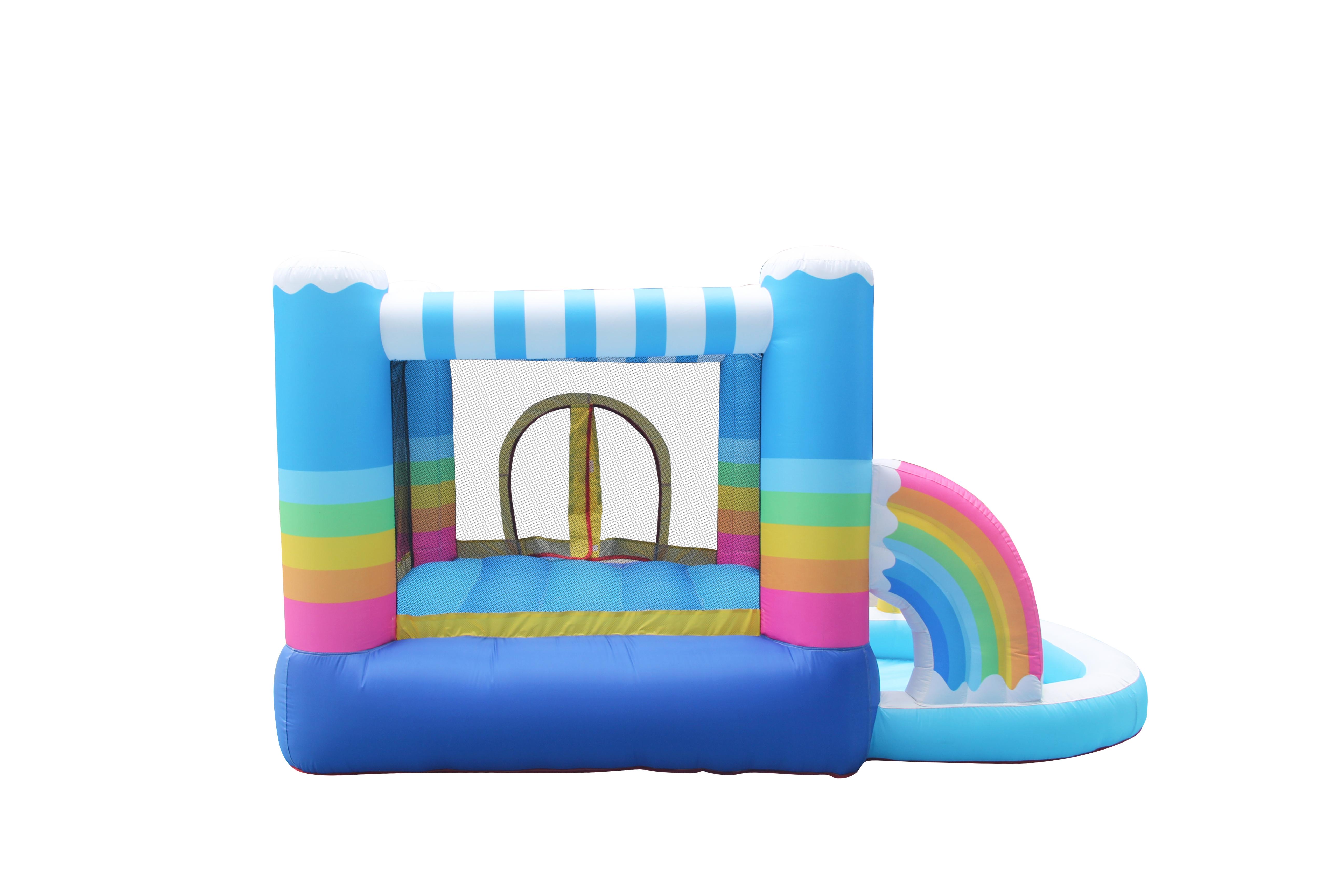 Wholesale Children Mini Rainbow Jumper House Inflatable Bounce Castle for Kids