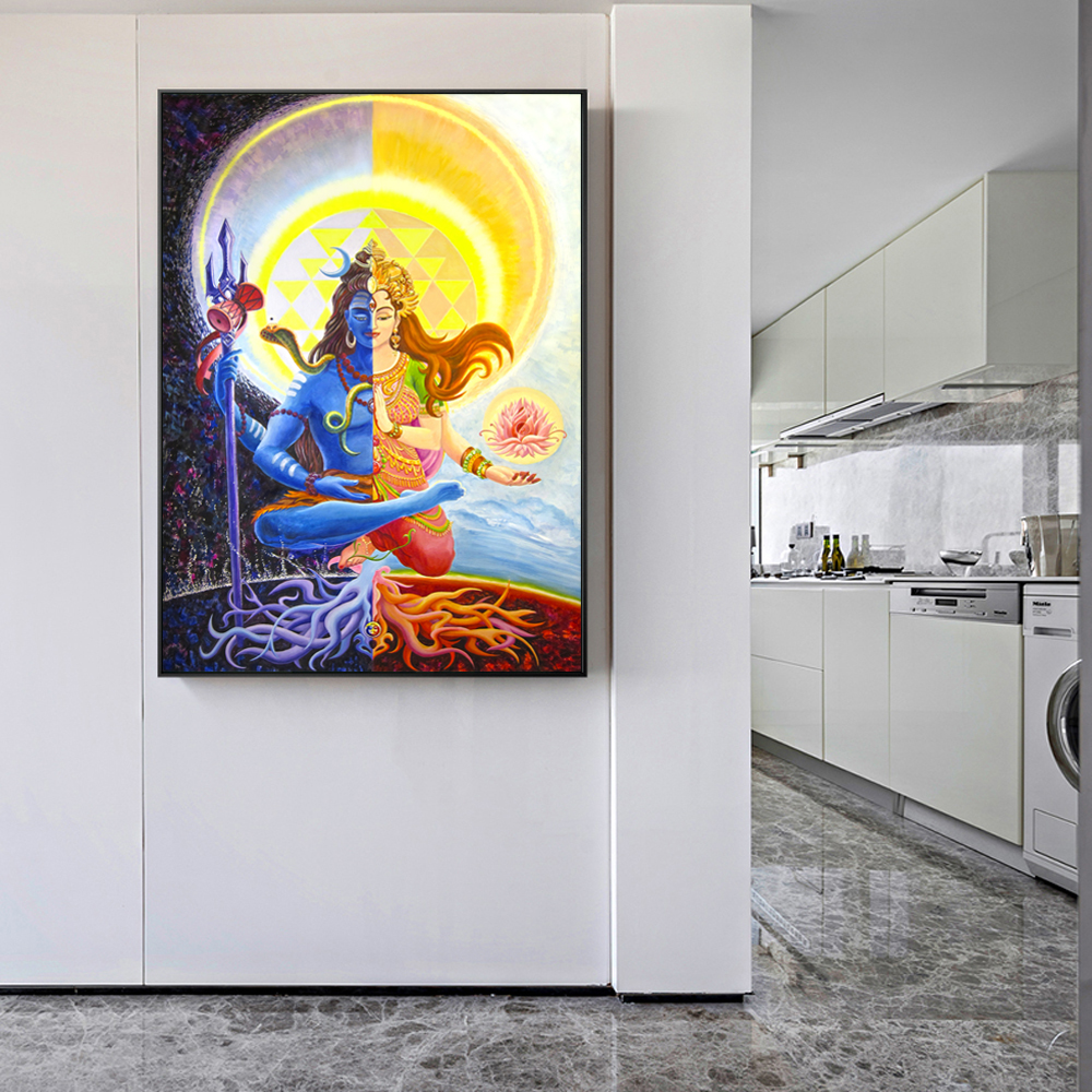 Wall Posters And Prints Hindu Gods Canvas Paintings Wall Unframed ...