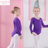 Purple long-sleeved