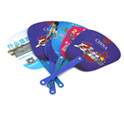 Middle Handle Promotion Customized Design Mini Plastic PP Hand Fan