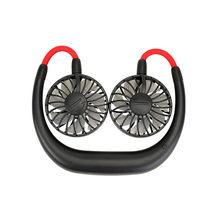 3 режима скорости мини USB перезаряжаемые вентилятор портативный стиль, круглый вырез, Спортивная вентилятор шейным стол ручной воздушный ве...(Китай)