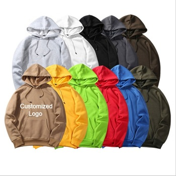 OEM Free Sample Hoodie Sweatshirt 100% Cotton Long Sleeve Custom Logo Printed Oversize Pullover Hoodies