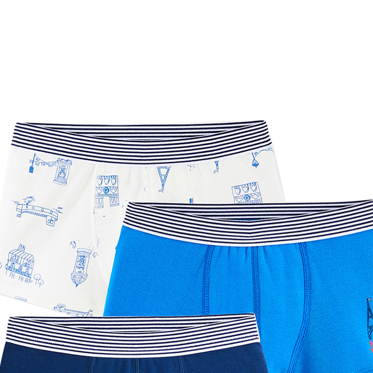Custom Knitted Children Boxer Shorts Boys Briefs Kids Boxers Underpants Breathable/Sweat Releasing Short Pants