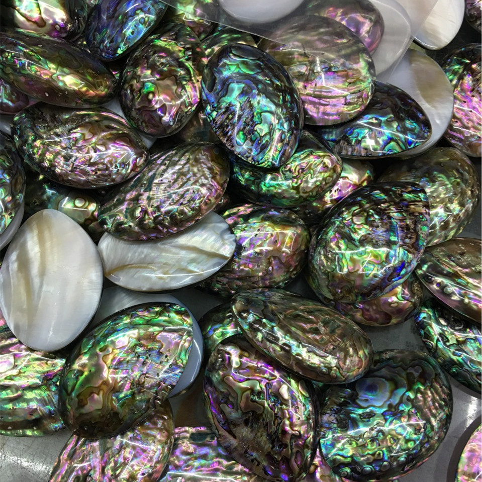 Factory Direct Sale Size Is About 40x50mm Natural Abalone Shell DIY Jewelry Accessories