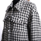 Jackets Women White Tweed Long Jackets Women Blazer 100% Polyester Plain Dyed Black And White Women Suit