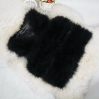 Female Real Ostrich Fur Vest Women's Short Gilet New Fashion Turkey Waistcoat