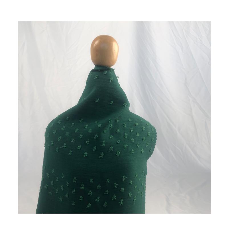 Fashion cey for dress woven jacquard fabric 100% polyester fabric polyester crepe floral fabric