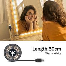 USB 5 В макияж светильник светодиодный косметический зеркальный светильник светодиодный голливудский туалетный столик зеркальный светильн...(Китай)