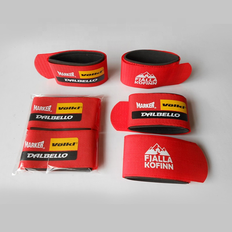 50*450mm trade assurance logo printed rubber alpine ski straps