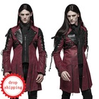 Runway Show Rock Red PU Leather Y-349 Jacket Long Sleeve Gothic Jacket Men