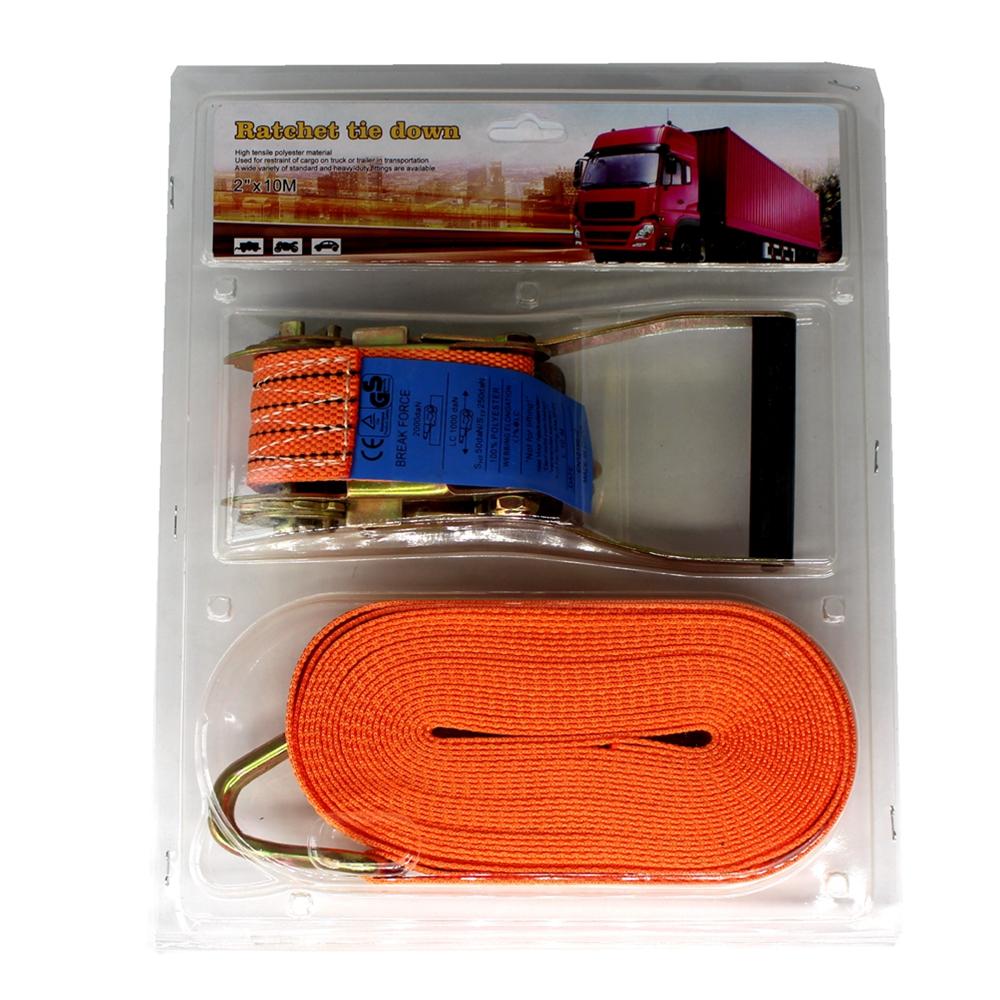 2 inch Polypropylene lockable lashing belt J hook textile plastic Handle wholesale 50mm 5000kg 1PCS Tie Down Set ratchet straps