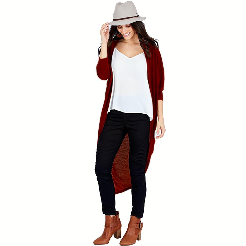 Amazon горячая распродажа Женские повседневные длинные открытые спереди драпированные легкие Макси большие кардиганы с длинным рукавом