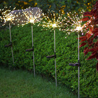 Solar Lights Led Light Luz Solar Lampara Decoration Outdoor Fireworks Style Solar Christmas Lights Led String Wholesale For Garden Yard
