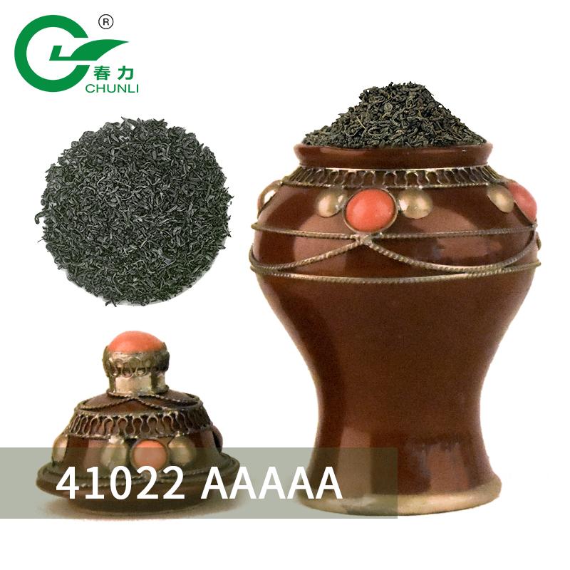 Chinese Green Tea The Vert Organic Premium 41022 Chunmee tea Maroc Flecha Factory Price - 4uTea | 4uTea.com