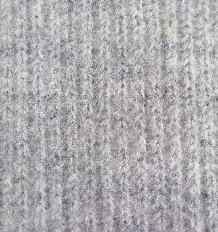 Оптовая продажа, вязаная ткань из смесовой шерсти и полиэстера