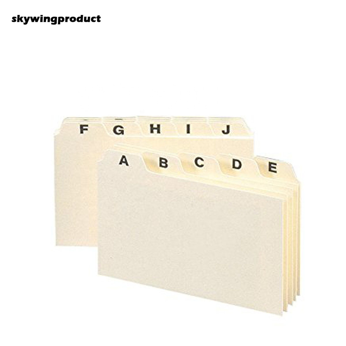 Skywingproduct Factory Custom Cheap Heavyweight Manila A z Letter Size  Index Card Guides With Plain Printing For School And Offi   Buy Index Card  Note ...