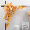 नारंगी पीले 1.2m x 1.2m त्रिकोण फूल