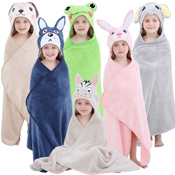 MICHLEY Hot Sale Hooded Animal Baby Beach Poncho Bath Kids Towel