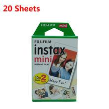 Fujifilm Instax Mini белая пленка Instax mini 9 8 пленка для камеры Polaroid Fujifilm Instax Mini 7s 10-100 листов пленка фотобумага(Китай)