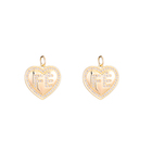 Charms Hot Selling Heart Shaped FE Letter Charms Micro Inlaid Zircon Pendant For Necklace