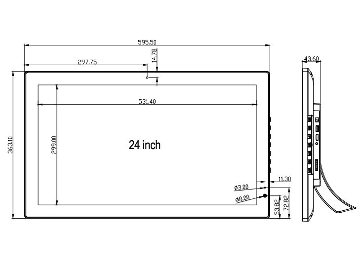 21 22 24 дюйма большой экран Full Hd 1080P Цифровая фоторамка 1920x1080