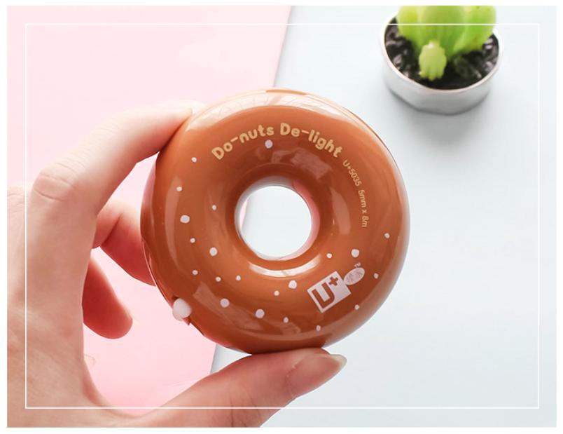 Креативная Корректирующая лента с симпатичными пончиками, симпатичная пластиковая Корректирующая лента для детей, новинка, товары в Корейском стиле, школьные принадлежности
