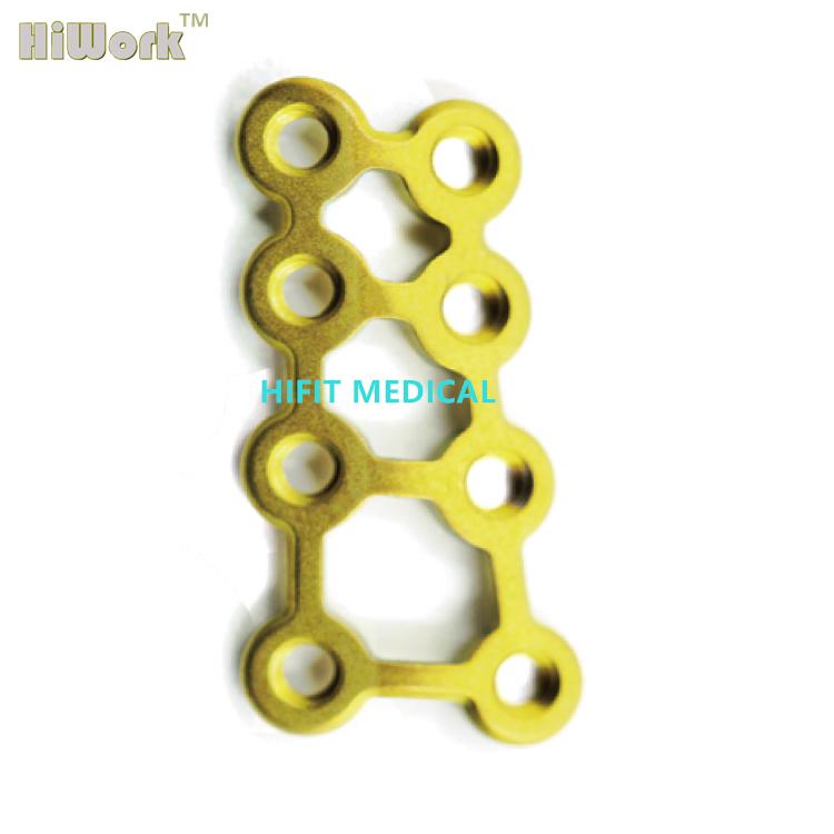 8 x 23 mm Pure Titanium Extremities hand bone Plate 1.5 mm Mini Locking H-Plate