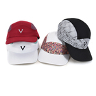 Custom logo 5 panel microfiber quick dry breathable soft cool man sports baseball running hat cap