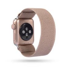 Эластичные нейлоновые часы 38 мм 40 мм богемный ремешок для Apple Watch ремешок 42 мм 44 мм для iwatch 5/4/3 2 Мужские Женские часы браслет(Китай)