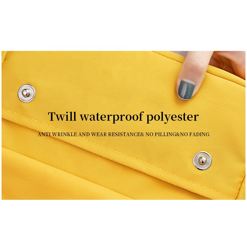 Factory Custom Solid Print ECO Zipper Pencil Bag For School Stationery Bag