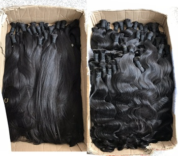 Double Drawn Unprocessed Raw Virgin Cuticle Aligned Hair Vendors,Wholesale Indian Hair Remy 100 Human Hair Bulk For Braiding
