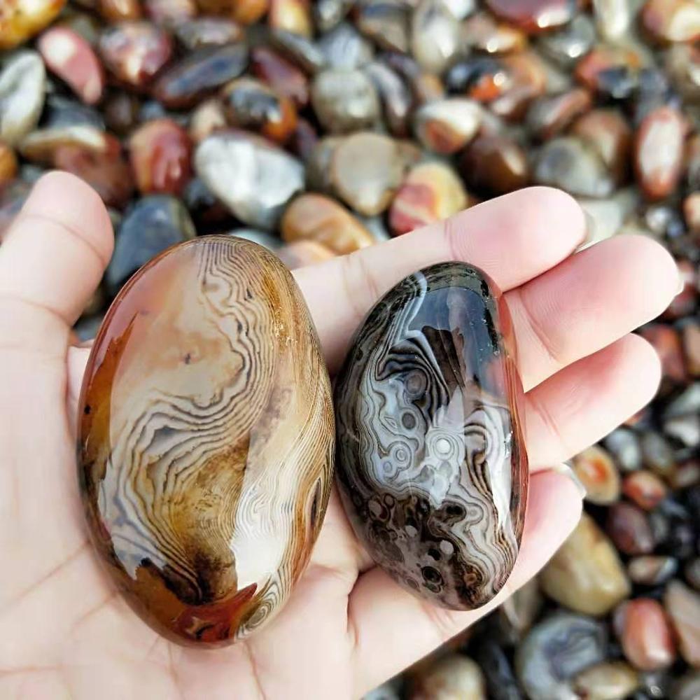 Hot sale Natural Silk Agate Tumbled Stone Quartz Crystal Gravel For Decoration