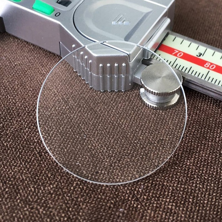Table glass mineral glass Flat thickness 2.0 mm diameter 20 mm ~ 40mm Crystal Transparent