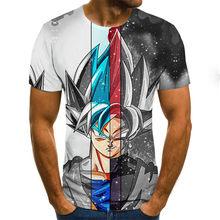 Manga dragon ball z Super Saiyan Son Goku аниме летняя 3D печать 2020 новейшие модные футболки для мужчин/мальчиков, Повседневная футболка с героями мультфильмо...(Китай)