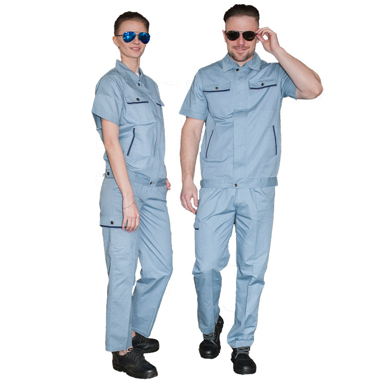 factory price workwear women and men summer work clothes construction clothes labour suit