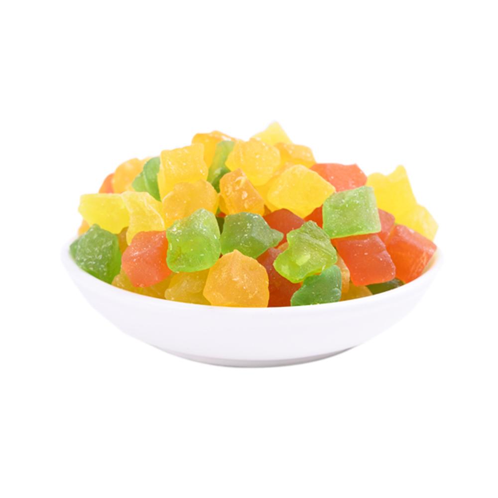 Натуральный низкий уровень сахара, искусственная шелушка, сухие тропические фрукты, гибридный Цвет, сушеные кубики папайи