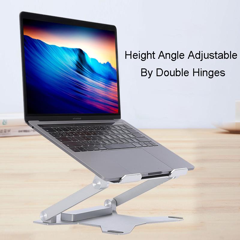 Ergonomic Flexible Folding Height Adjustable Aluminum Foldable Portable Adjustment Desktop Laptop Notebook Holder Riser Stand