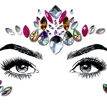 Price festival face gems crystal body jewel tattoo stickers face gems for eyes