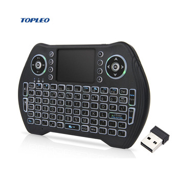 mini rgb backlit Touchable Handheld keyboard 2.4G Wireless Air Mouse keyboard for TV Box