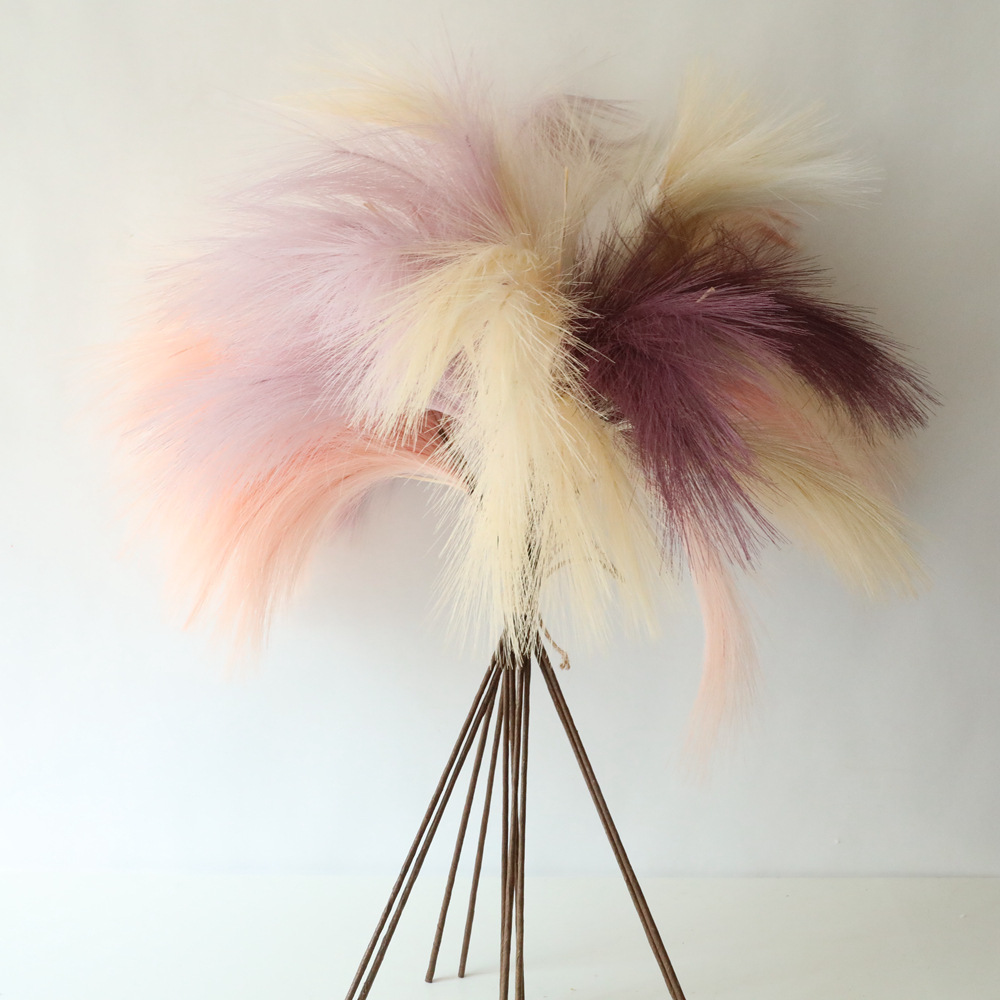 L0185 high quality artificial pampas grass white purple pink faux pampas grass for home wedding party decoration