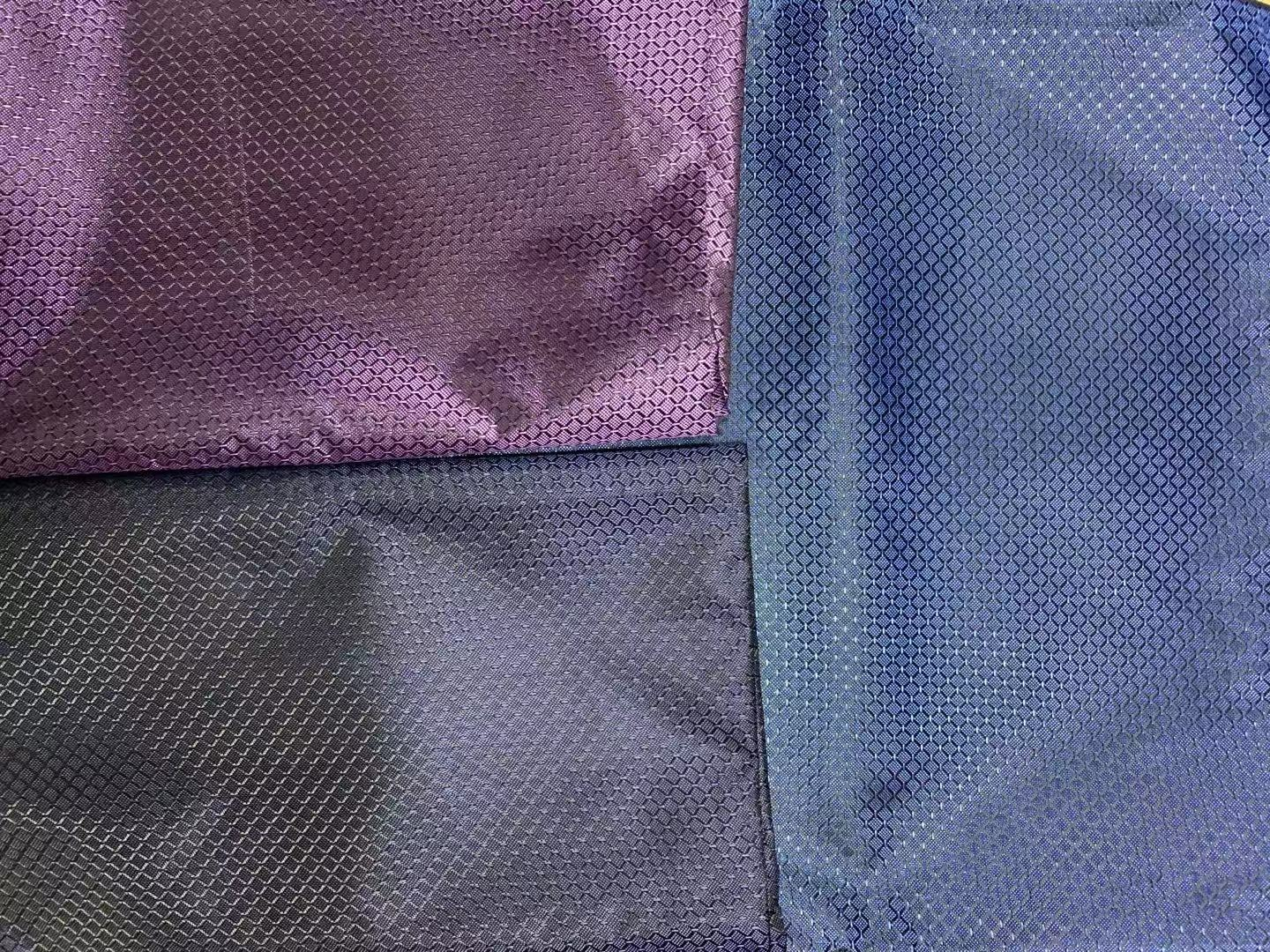 100% Polyester Weft Black Yarn Diamond Checkered PVC Coating Upholstery Woven Luggage Water Resistant Waterproof Wind Proof Pink