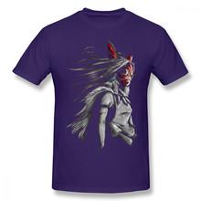 Футболка принцессы Мононоке, Mononoke Wolf, аниме Tra, цифровая футболка с картиной, забавная футболка, Базовая футболка с короткими рукавами и прин...(Китай)