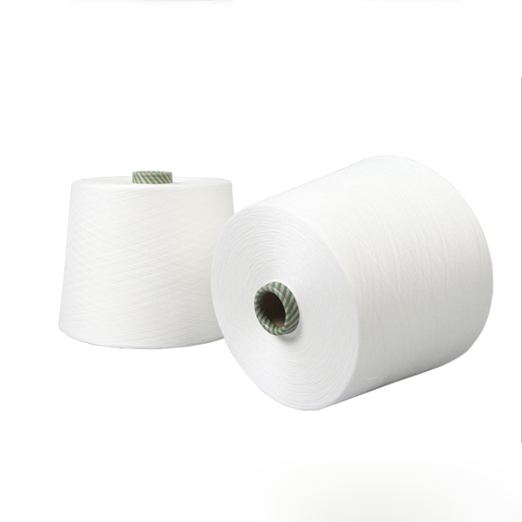 Factory Lowest Price 100% Spun Pure Polyester Thread White 1/40 1/32 1/21 Yarn