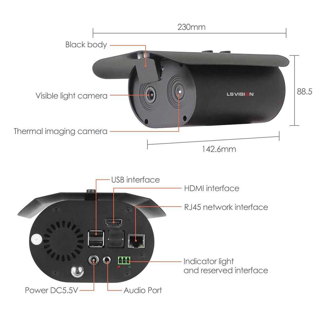 body temperature camera binocular thermal imaging camera temperature detecting Fever Detection thermal camera
