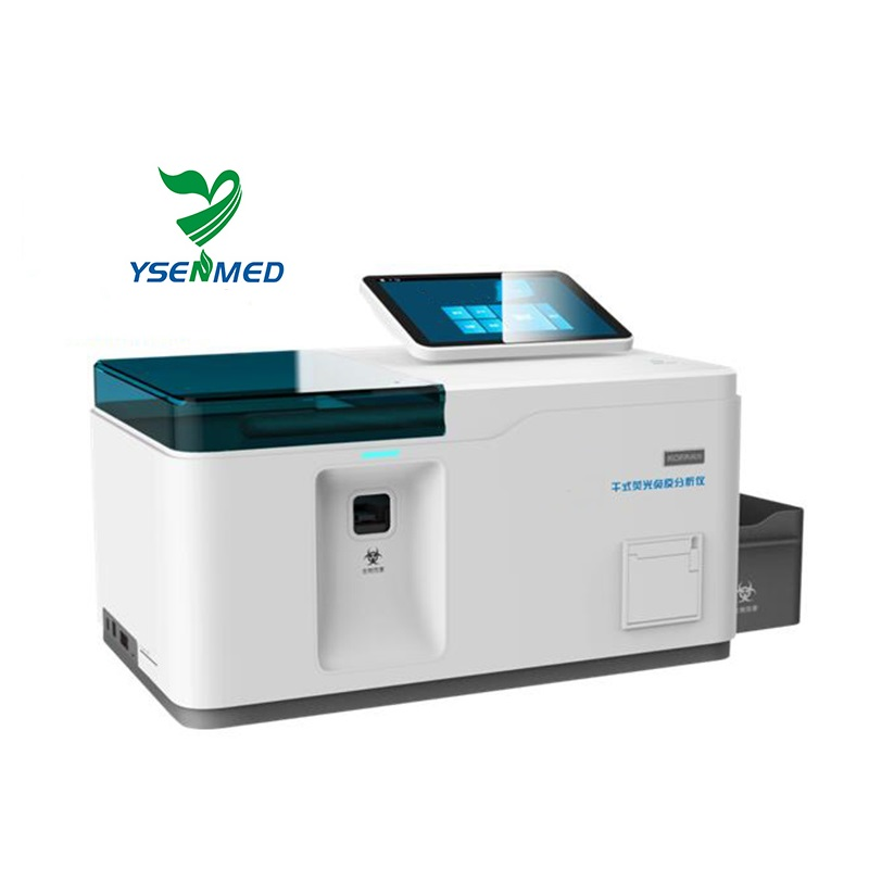 YSTE-FIA12 good price POCT system dry-type FIA 12-channel fluorescence immunoassay quantitative analyzer