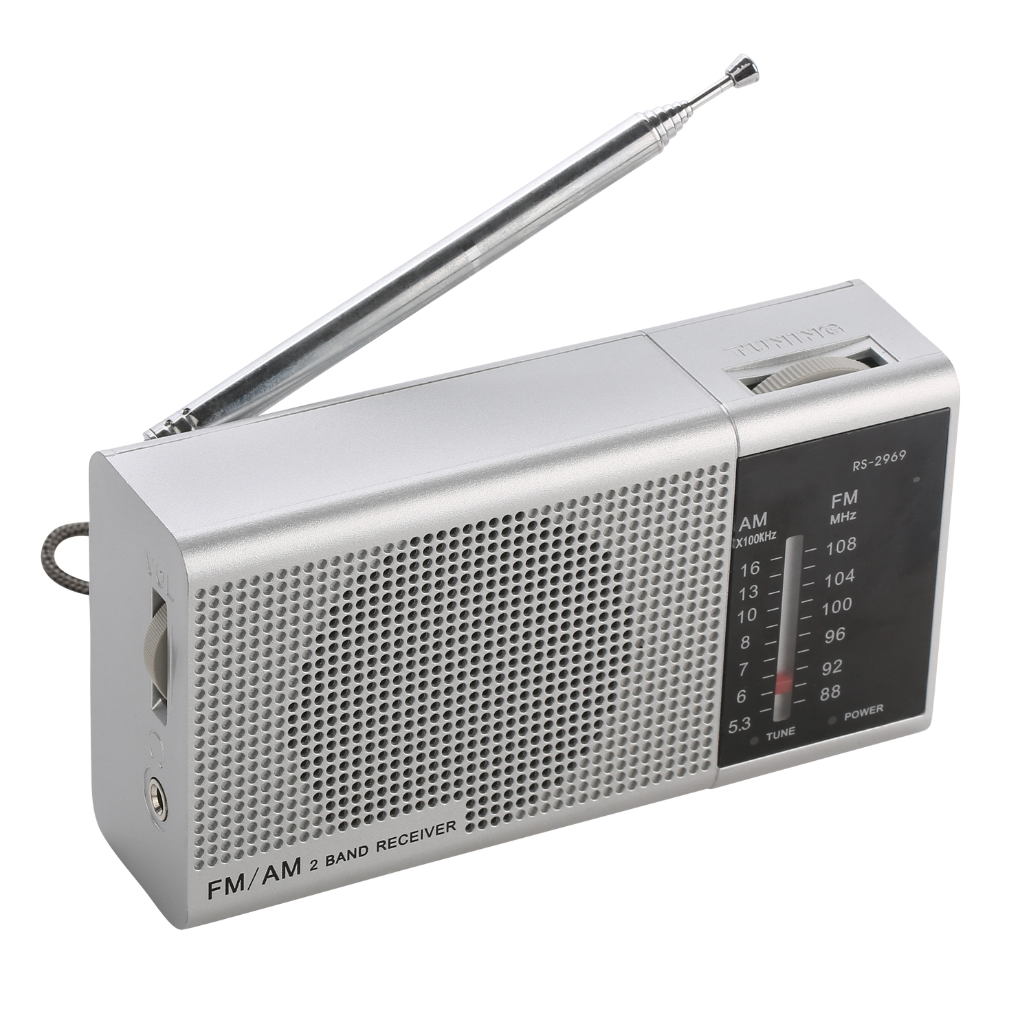 Factory supply ProAmotion sales Portable Pocket AM/FM radio classical style power light indicator 3V DC or 2xAA battery